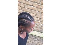 Afro hairdresser, braids, weave, feed in cornrows, faux locs, crochet