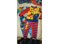 Fleece Onesies 3-4 years All In One Pyjamas