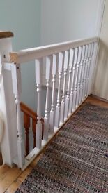 Spindles with handrail and base