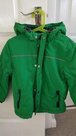 Boys green hooded jacket