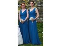 Pair of blue bridesmaids dresses *as new*