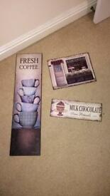 Vintage Kitchen Wall Art joblot