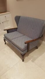 Parker knoll style wingback 2 seater