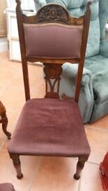 2 Edwardian Dining Chairs