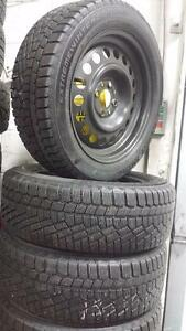 "15"" FIAT 500 WINTER PACKAGE ~~ 4x98mm RIMS & TIRES 185/55R15 Continental Winter Contact ~ 95%tread"