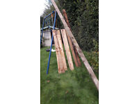 Assorted lenghts of timber suitable for fencing etc