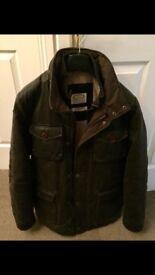 Men's Leather Wax Coat