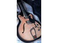 Hagstrom Viking Deluxe Semi-Hollow Electric Guitar (sounds like Gibson ES-335, better than epiphone)