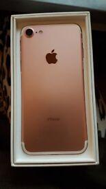 I-phone 7, 32Gb, Rose Gold, Unlocked.