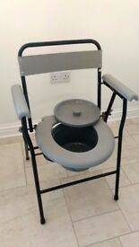 Foldable commode, never used