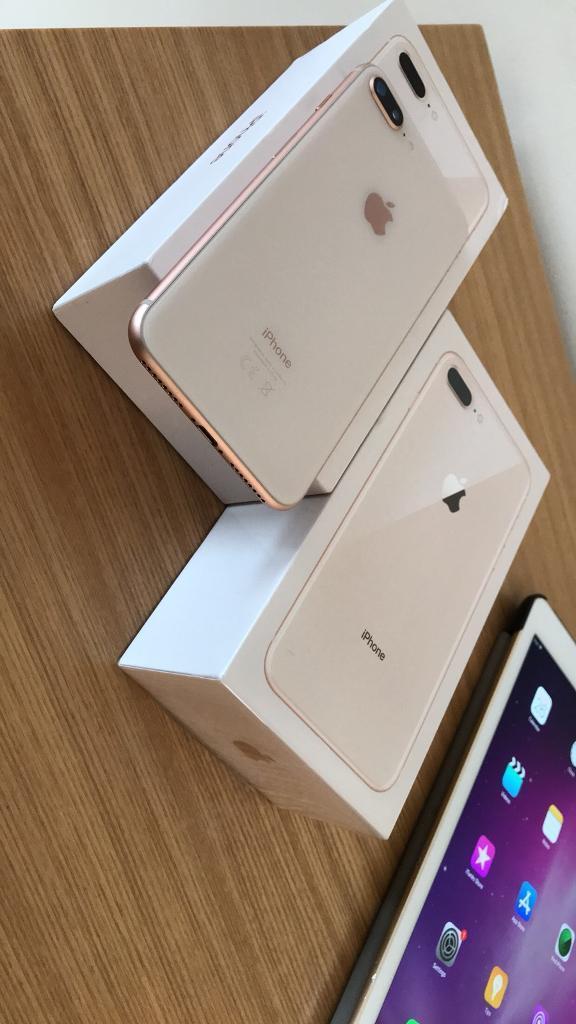 IPhone 8 Plus 64GB Rose Gold EE Virgin NEW