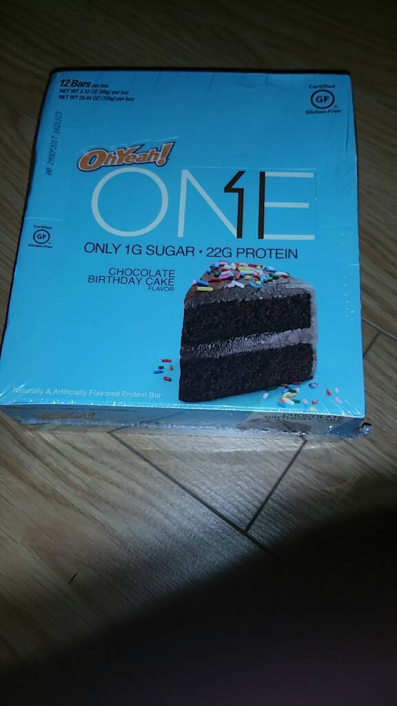Oh Yeah 1 One Protein Bars New 12 Box Birthday Cake