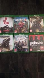 Various Xbox one games all very good condition £5 each or £20 for the lot