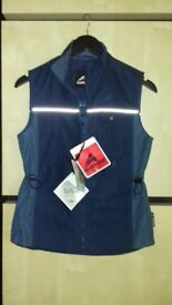 New tags navy euro-star girls summer weight equestrian gilet size 164