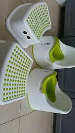 Ikea lockig potties and step stools x 2
