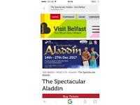 X4 spectacular Aladdin tickets