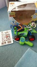 Battery operated toy story car