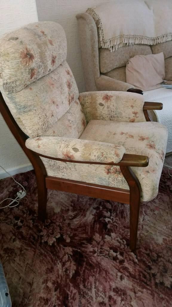 High seat fireside chair