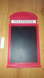 Telephone box chalk board
