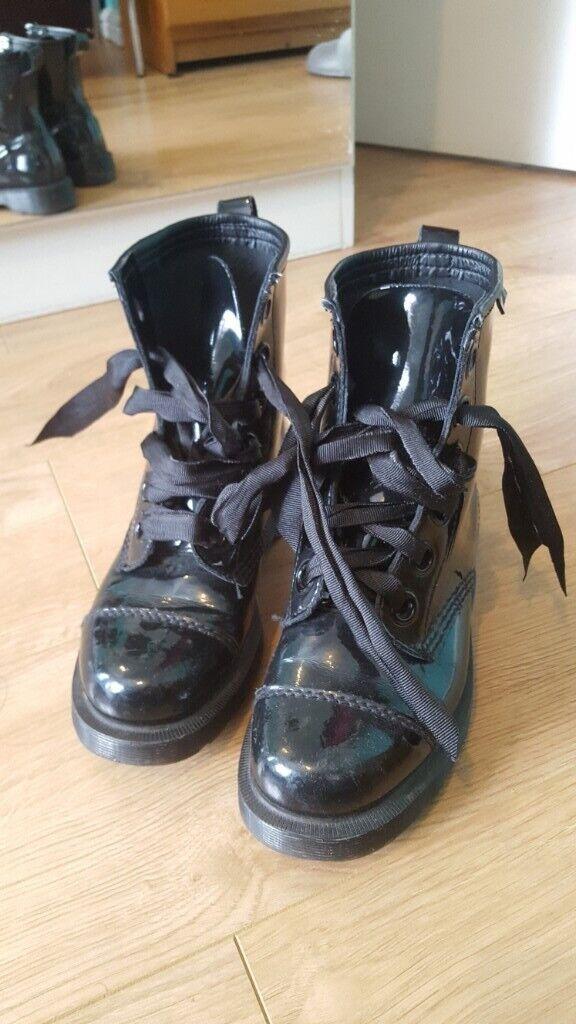 b0ac20745e60 Dr. Martens GRACE 8 Eye Capper Boot BLACK Shoes Womens size 5 ...