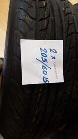 2x 205/60/15 brand new tyres