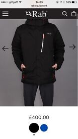 Got 2 rab coats for sale ther brand new .. one for 230 am one for a 100er
