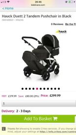 Hauck double buggy.Very good condition..used only few times.