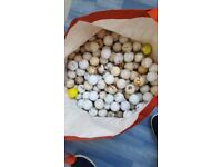 150 scuffed golf balls