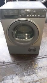 HOTPOINT 8KG CONDENSER TUMBLE DRYER IN SILIVER