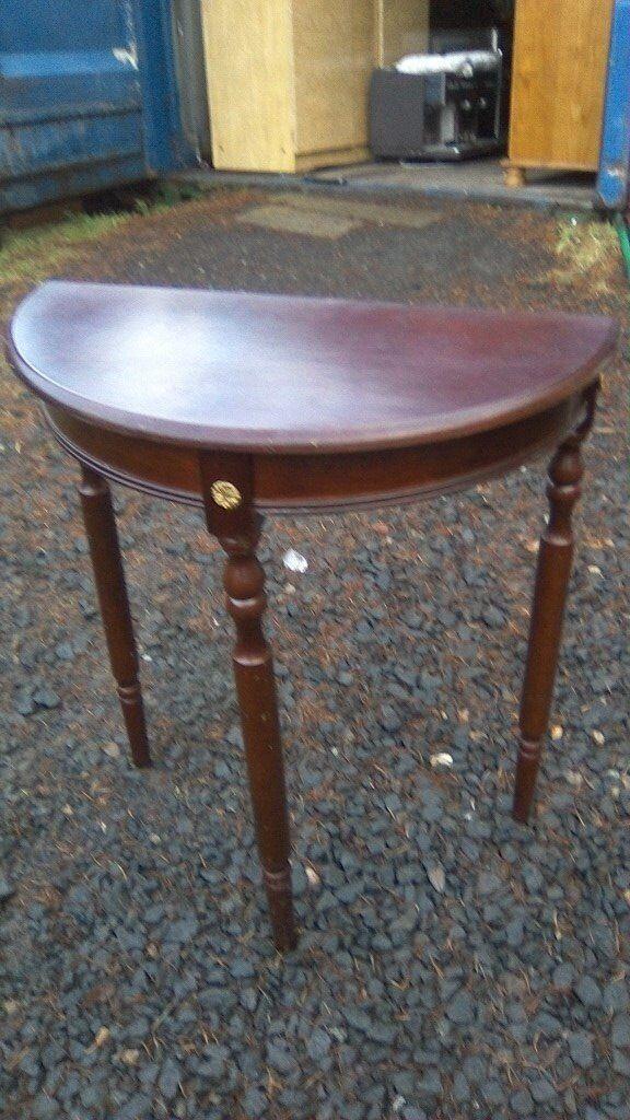 Small reproduction demilune console table | in Bonnybridge ...