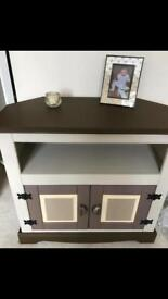 Lovely tv cabinet painted in creams and browns cupboard
