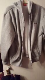 light grey hoodie by slazenger size m