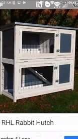 Gorgeous 2 tier guinea pig/small rabbit indoor hutch. White & grey. Easy cleaning.