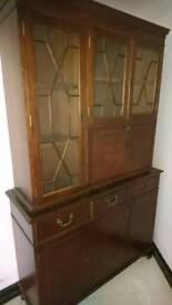 Mahogany cabinet and bar