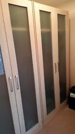 Matching Bedroom Furniture 2 Double Wardrobes, Tallboy, 5-drawer Chest and Bedside cabinet