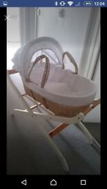 New mothercare moses basket and stand