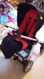 mammas and pappas Sola pram and pushchair