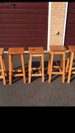 Wooden stools for sale