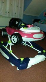 baby walker pink and black car design