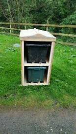 Recycling box shed/housing