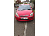 TOYOTA YARIS 998CC. GOOD CONDITION FOR YEAR. ELECTRIC FRONT WINDOWS/AIRBAGS. VERY RELIABLE.