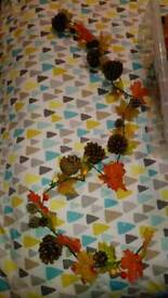 Selection of autumnal wedding decorations