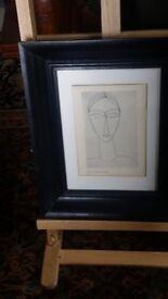 2x Modigliani prints
