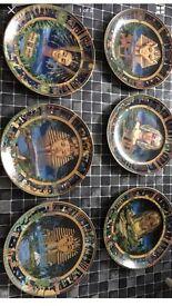 6 Pharoahs of Ancient Egypt Danbury Mint plates