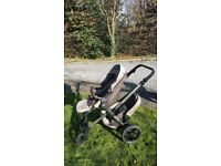Jane Twone double buggy tandem - clean and ready to be used