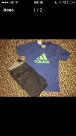 Boys ted baker jeans & adidas tshirt