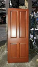 New 4 panel pre finished pine internal door