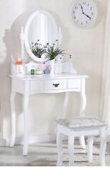 Brand new white dressing table in box
