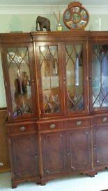 wooden side cupboard& tall boy