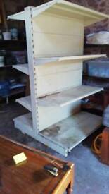 Metal workshop shelving
